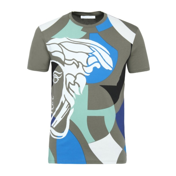 108a0c88a4a73 Versace Collection T-Shirts, Olive Printed T Shirt for Men at ...