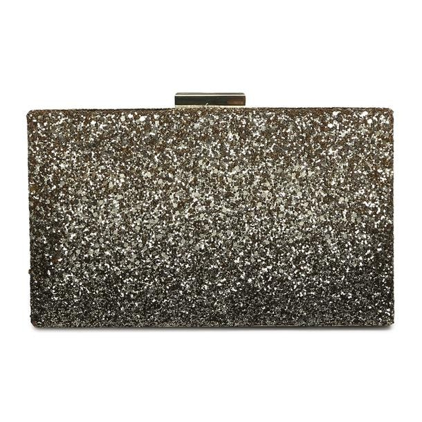 fe036f7e1b Love Moschino Bags, Gold Glitter Clutch for Women at Thecollective.in