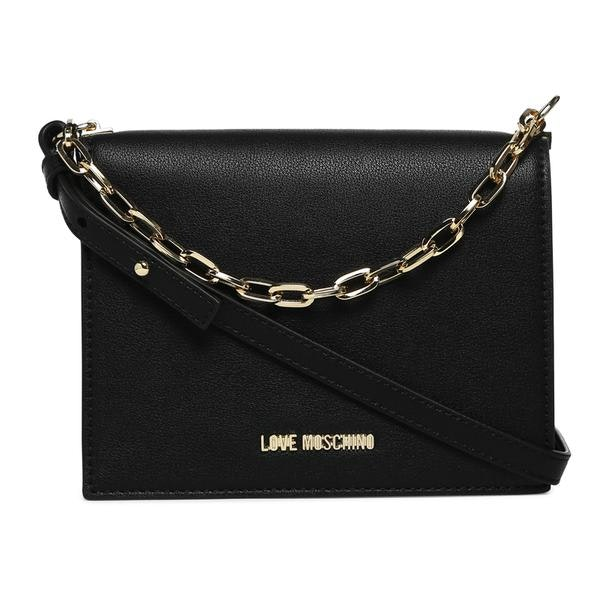 12dc9bba5b Love Moschino Bags, Black Double Straps Shoulder Bag for Women at ...