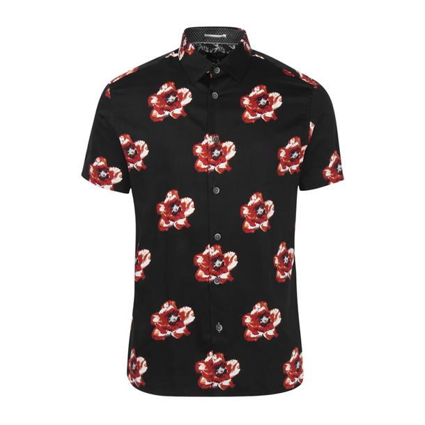 e891a6dd5 Ted Baker Casual Shirts, Navy Blue Casual Floral Print Shirt for Men at  Thecollective.in