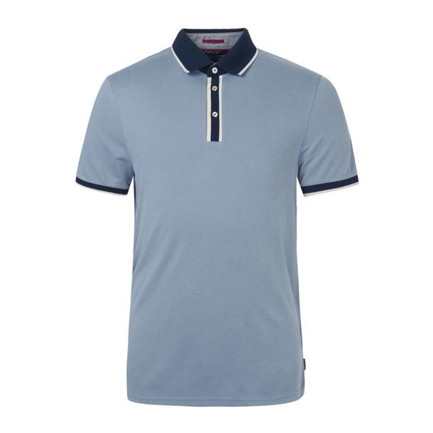 4d8828b9 Ted Baker Polos, Blue Flat Knit Polo for Men at Thecollective.in