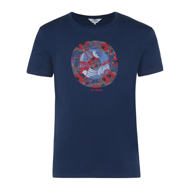 6938fccf5 Ben Sherman T-Shirts, Blue Printed T Shirt for Men at Thecollective.in