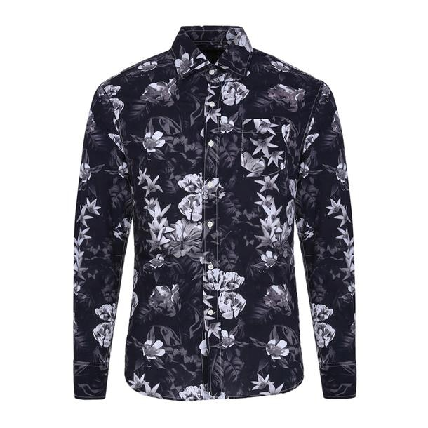097d1ec5331a4a Replay Casual Shirts, Black Printed Shirt for Men at Thecollective.in