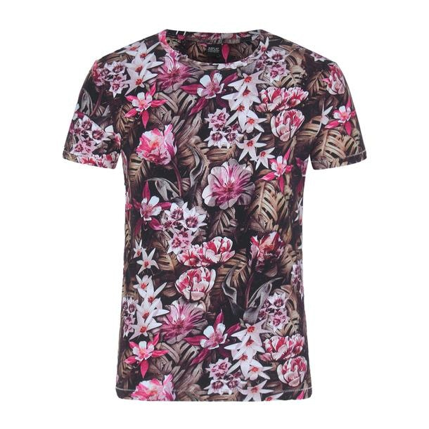 8f96548d0 Replay T-Shirts, Brown Floral Print T Shirt for Men at Thecollective.in