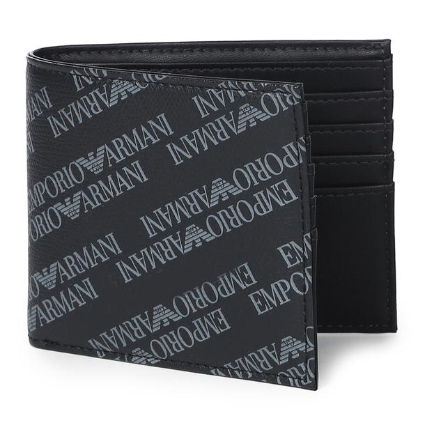 2bb5331543 Emporio Armani Wallets, Black Printed Wallet for Men at Thecollective.in