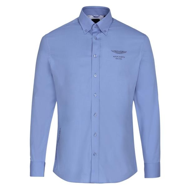ab0d86ec644384 Hackett London Casual Shirts, Blue Logo Casual Shirt for Men at ...