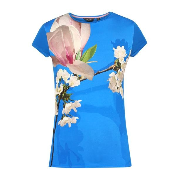 c948eb1a5 Ted Baker Tops, Blue Floral Print T Shirt for Women at Thecollective.in