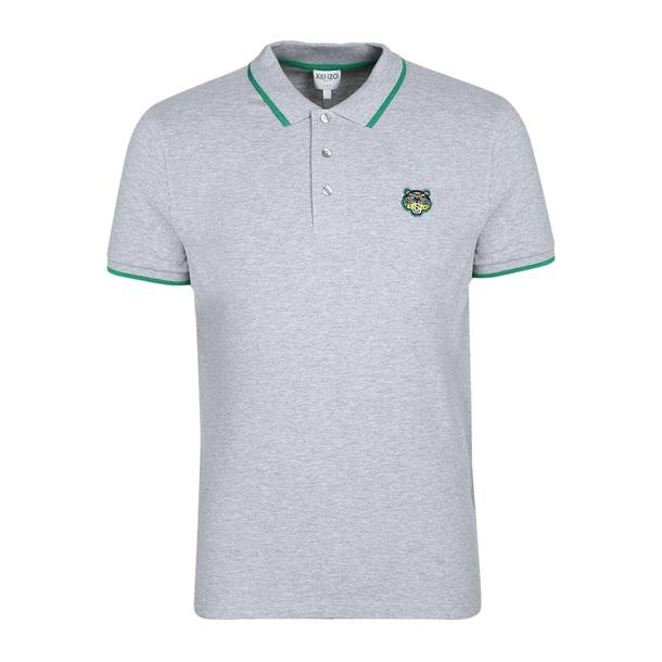 7db70f09c2 Kenzo Polos, Grey Heathered Logo Polo for Men at Thecollective.in