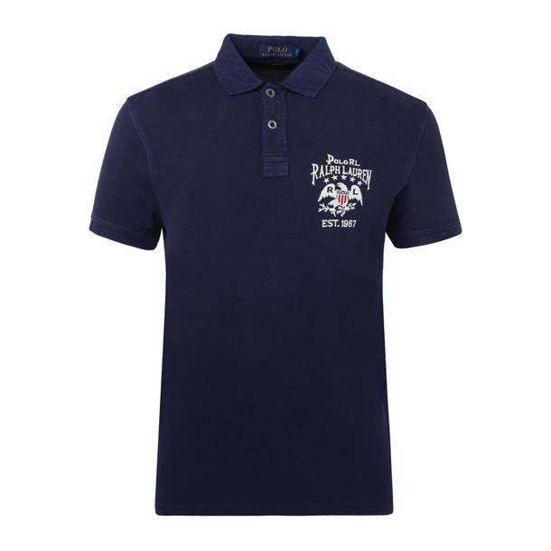 2cf4ad4f4e69 Navy Custom Slim Fit Mesh Polo