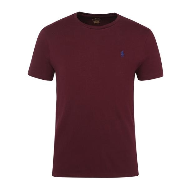 32bf2a44 Polo Ralph Lauren T-Shirts, Wine Custom Slim Fit Cotton T Shirt for ...