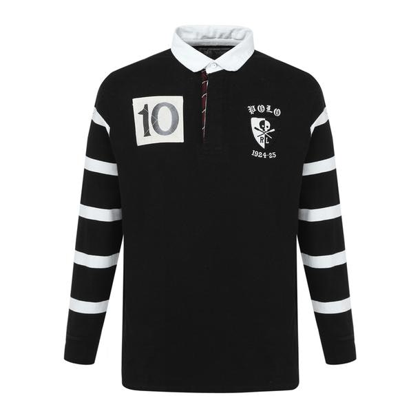 bf3e08f1 Polo Ralph Lauren Polos, Black Classic Fit Cotton Rugby Shirt for ...