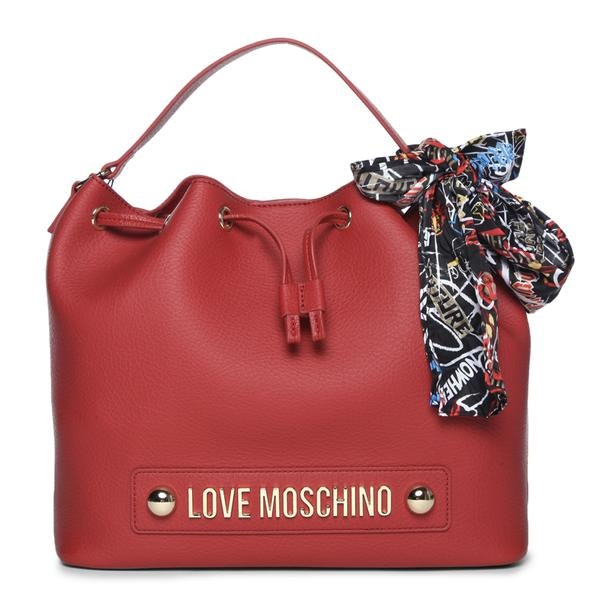 9fa7b1c4e7 Love Moschino Bags, Red Grainy Textured Bag for Women at ...