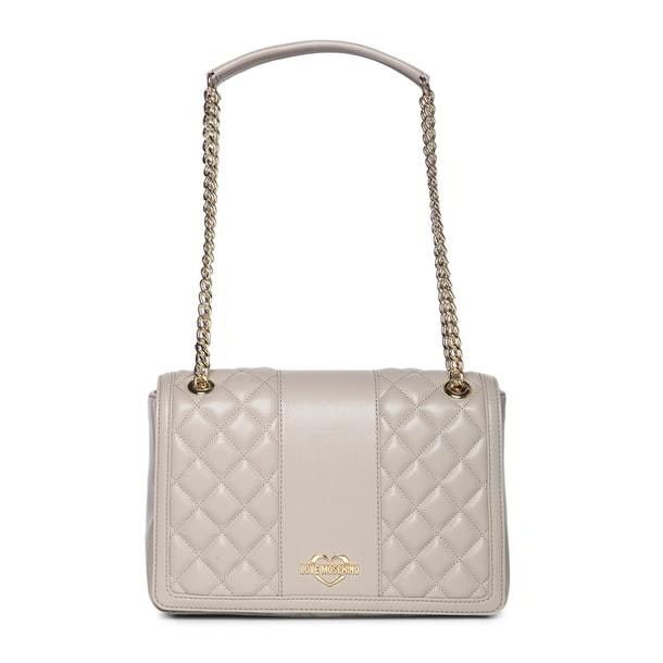 19bd13fa2b Love Moschino Bags, Beige Quilted Shoulder Bag for Women at ...