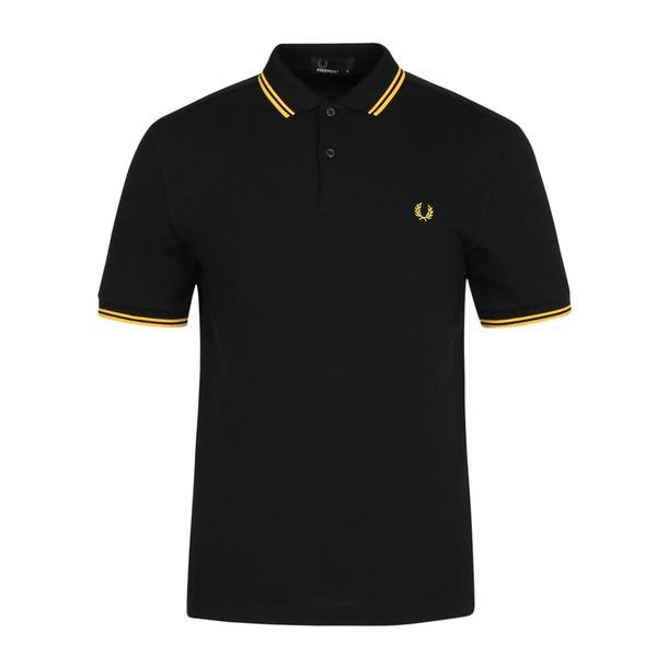 6ac1ead8e Fred Perry Polos, Black Twin Tipped Logo Polo for Men at ...