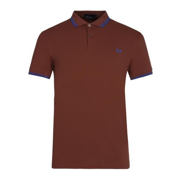 01cd5b16 Fred Perry Polos, Brown Twin Tipped Logo Polo for Men at ...