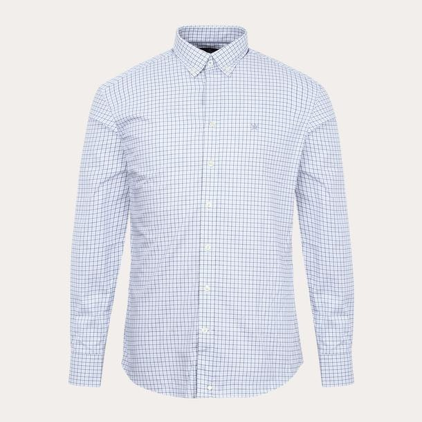 928a923d55cf HACKETT LONDON Casual Shirts, Blue Chequered Shirt for MEN at ...