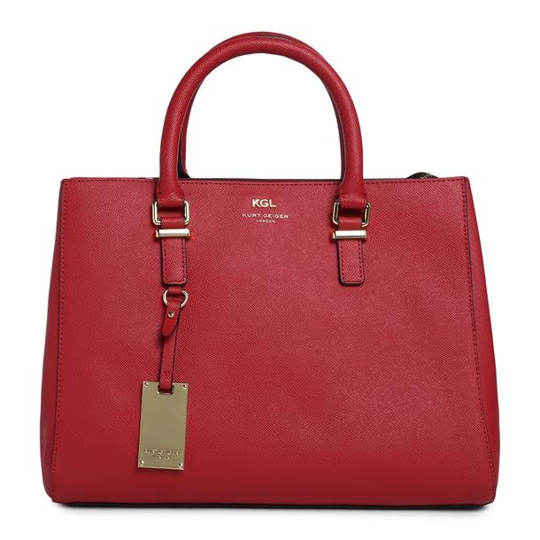 da3612632ec Kurt Geiger Bags, Red Textured Tote Bag for Women at Thecollective.in