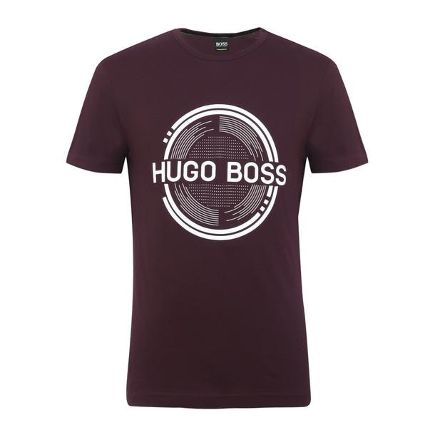 ac3dde62 Hugo Boss Green T-Shirts, Dark Purple Logo T Shirt for Men at ...