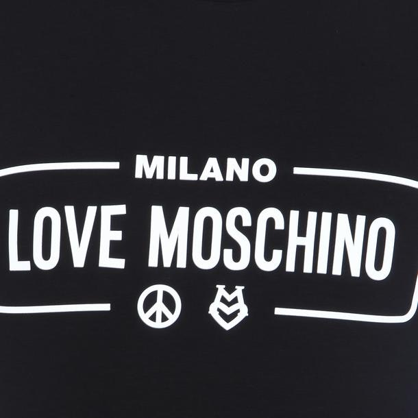 f2b599af Love Moschino T-Shirts, Black Rubber Print T Shirt for Men at ...