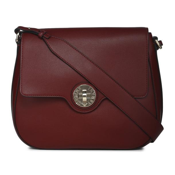 937640f3da Emporio Armani Bags, Wine Crossbody Bag for Women at Thecollective.in
