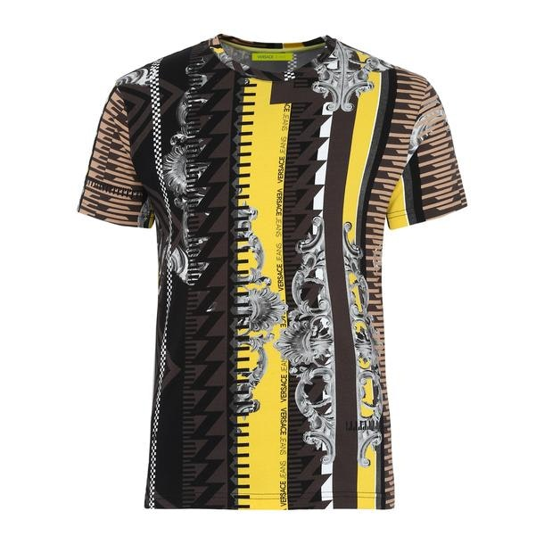 a7d6ce43 Versace Jeans T-Shirts, Yellow Printed T Shirt for Men at ...