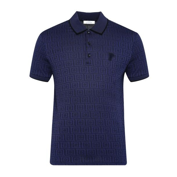 fb6d549a464fc RECOMMENDATIONS. Star Studded Navy Polo T-Shirt. Versace Collection