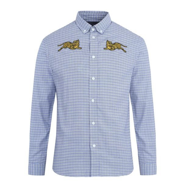 18310f59 Kenzo Casual Shirts, Light Blue Plaid Shirt for Men at Thecollective.in