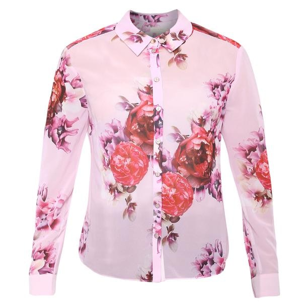 2fe42017 Ted Baker Shirts, Baby Pink Printed Shirt for Women at Thecollective.in