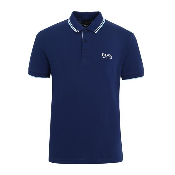 51031ae2 Hugo Boss Green Polos, Navy Twin Tipped Logo Polo for Men at ...