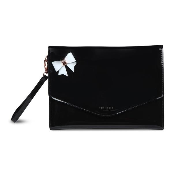 db4fbf9ea Ted Baker Bags, Black Bow Envelope Pouch for Women at Thecollective.in