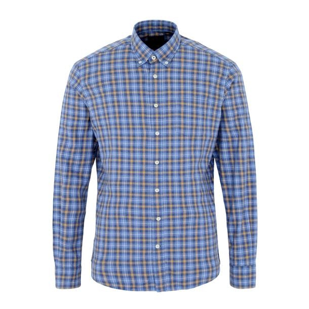 54e0140e9a21 Hackett London Casual Shirts, Blue Chequered Casual Shirt for Men at ...