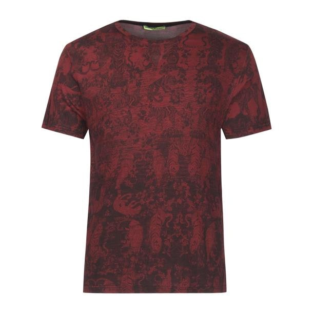 7ed6305c Versace Jeans T-Shirts, Wine Printed T Shirt for Men at Thecollective.in