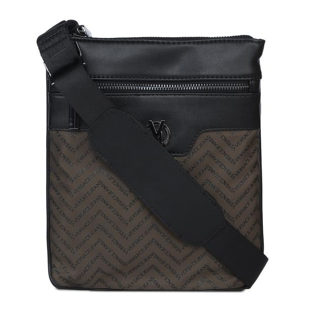 73d9b0210cf Versace Jeans Bags, Olive Chevron Flight Bag for Men at Thecollective.in
