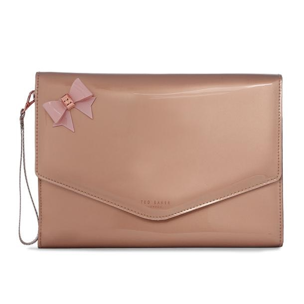 f888a056ab68c Ted Baker Bags, Pink Bow Envelope Clutch for Women at Thecollective.in