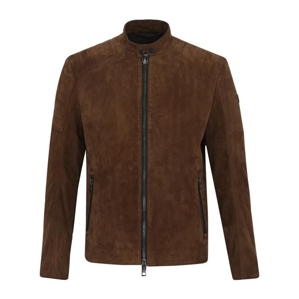 41cf76a86 Hugo Boss Orange Jackets And Coats, Brown Suede Leather Jacket for ...
