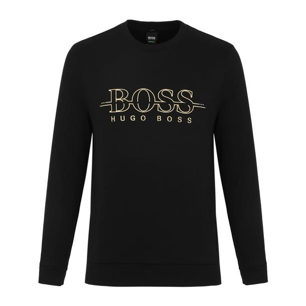 96e7d0304 Hugo Boss Green Sports, Black Embroidered Logo Sweatshirt for Men at ...