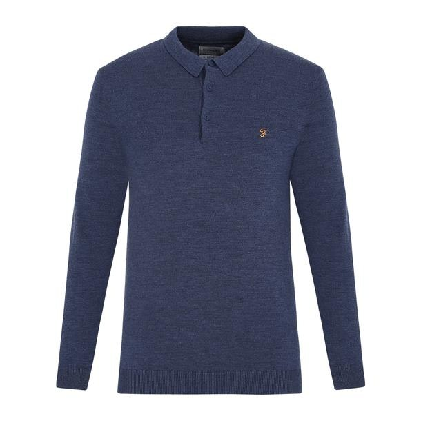 6ee696035 Farah Polos, Navy Full Sleeve Polo for Men at Thecollective.in