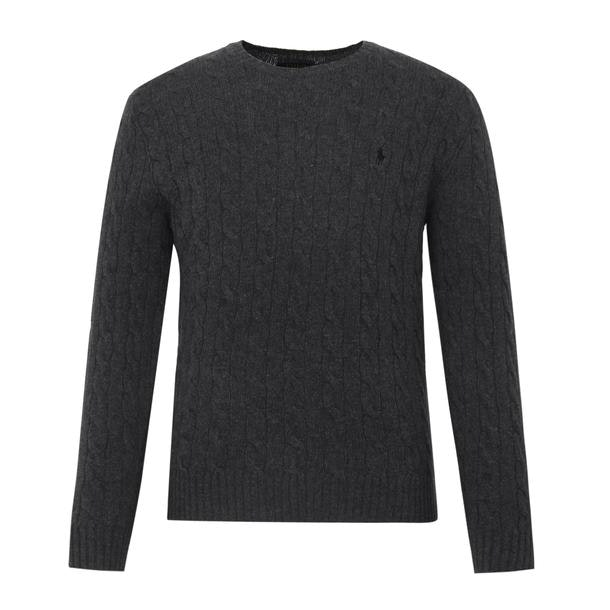 cb7e1c16 Polo Ralph Lauren Knitwear, Dark Grey Knitted Sweater for Men at ...