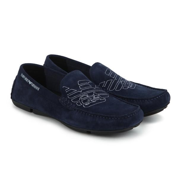 93c2d36f66 Emporio Armani Shoes, Navy Casual Shoes for Men at Thecollective.in