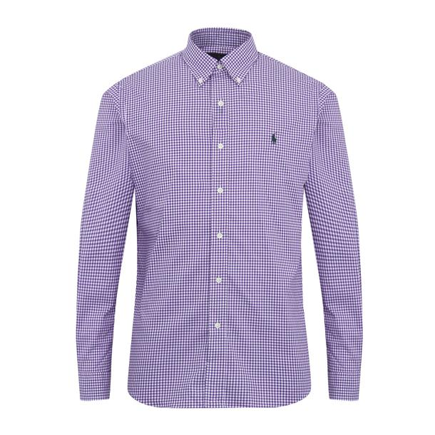Casual ShirtsPurple Men Shirt Polo Check Ralph Lauren Gingham For vIfy76gbmY