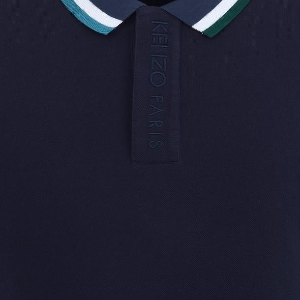 8acef72f Kenzo Polos, Navy Embroidered Pique Polo for Men at Thecollective.in