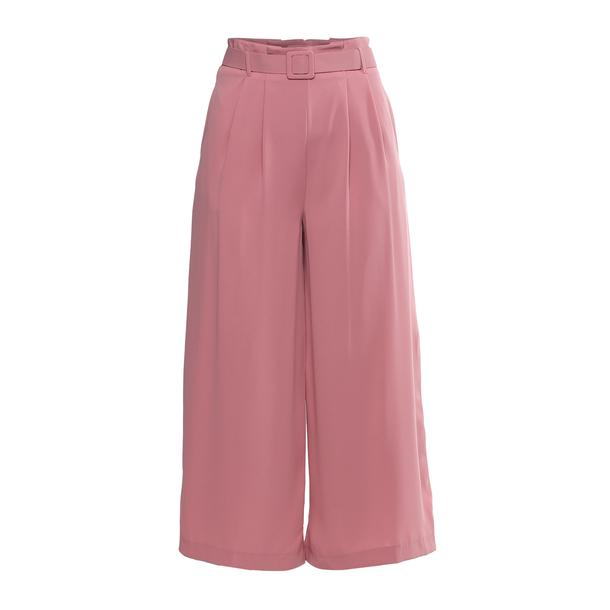 7514a75a73 Rinascimento Trousers, Pink Pleated Flared Trousers for Women at  Thecollective.in