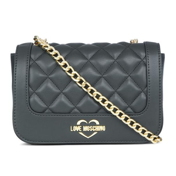 797b6358d0a Love Moschino Bags, Dark Green Quilted Shoulder Bag for Women at ...