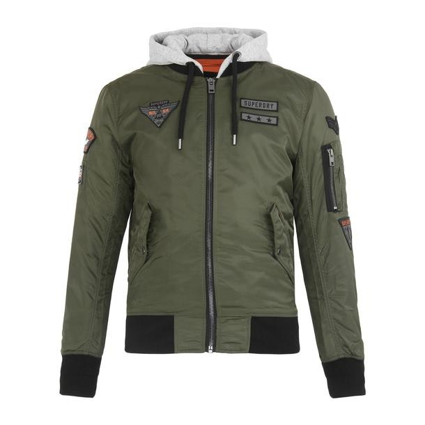 7e51d4782 Super Dry Jackets And Coats, Brown Bomber Hooded Jacket for Men at ...