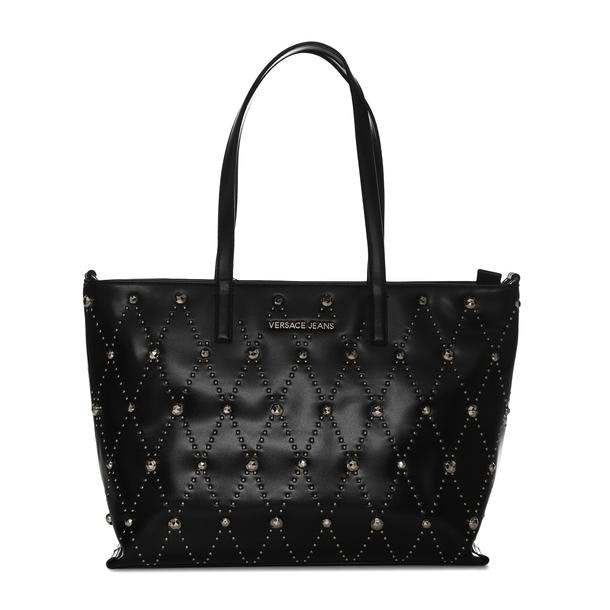 cb1d82d5a9 Versace Jeans Bags, Black Studded Tote Bag for Women at Thecollective.in