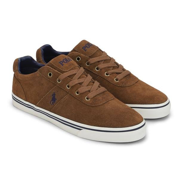 huge discount arrives high quality materials Polo Ralph Lauren Shoes, Brown Suede Leather Logo Sneakers ...