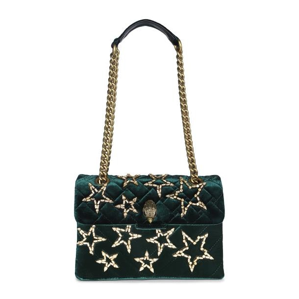 90d033a9be31 Kurt Geiger Bags, Green Velvet Shoulder Bag for Women at ...