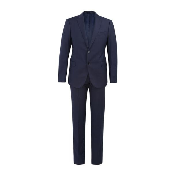27f2370b Emporio Armani Suits And Blazers, Navy Rectangular Textured Suit for ...
