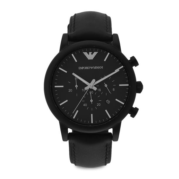 61180b5fff Emporio Armani Watches, Multicolour Black Analog Watch for Men at ...
