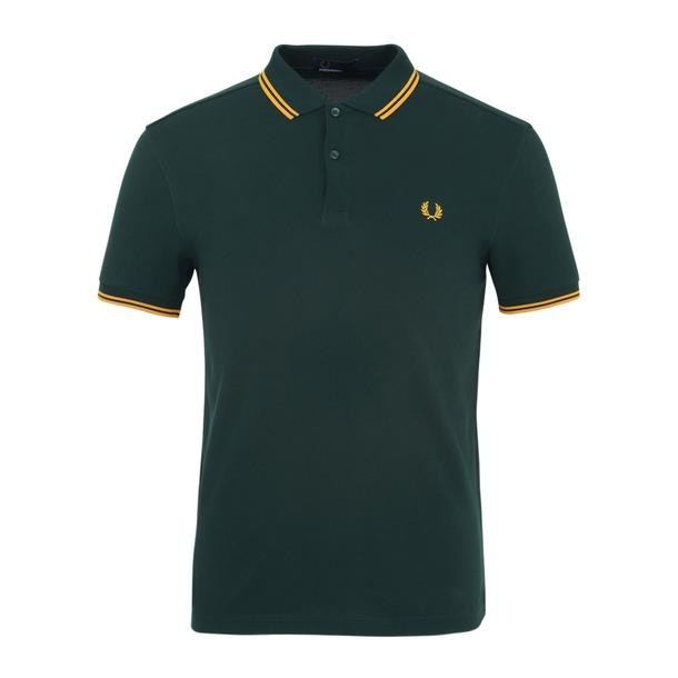 f4bc8679d Fred Perry Polos, Olive Twin Tipped Polo for Men at Thecollective.in